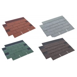 Square Asphalt Roof Felt Tiles Shingles