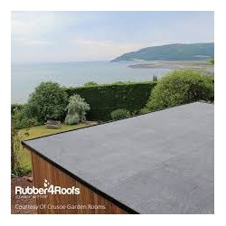 EPDM  Rubber Roof - Garden Summer House Flat Roof